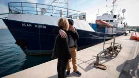 Despair of migrants on rescue ship