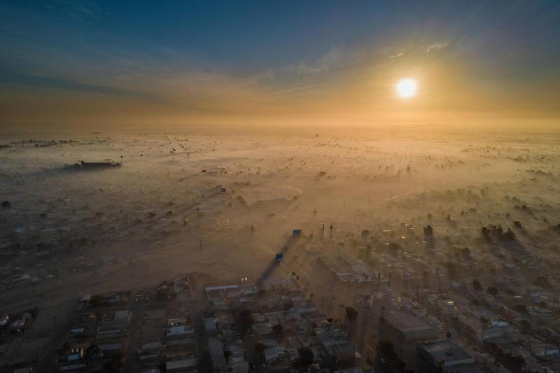 Eliud Gil Samaniego - Polluted New Year (Mexicali, Baja California)The 1st of January of 2018 Mexicali was one of the most contaminated cities in the world because the pyrotecnics climate change geographic location industry and cars