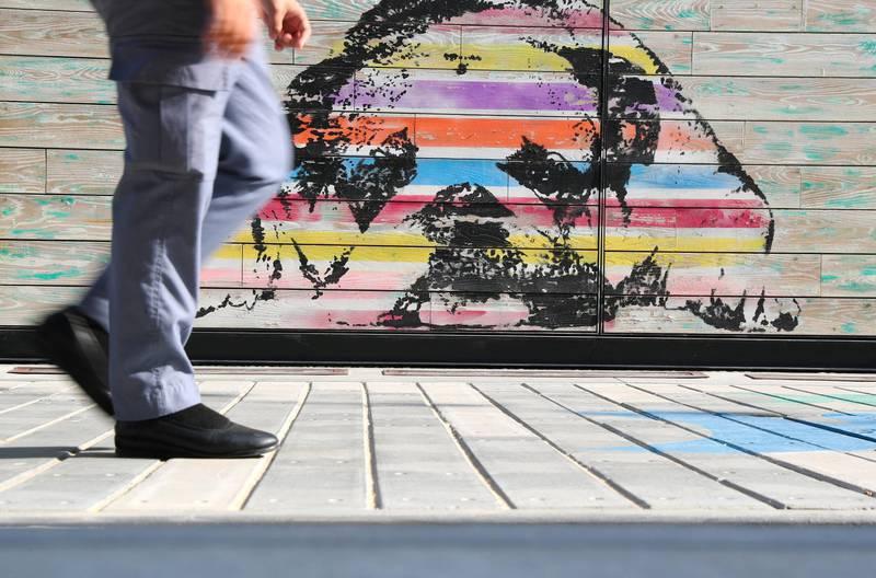 Dubai, United Arab Emirates - Reporter: N/A: Photo project. Street art and graffiti from around the UAE. Monday, January 27th, 2020. La Mer, Dubai. Chris Whiteoak / The National