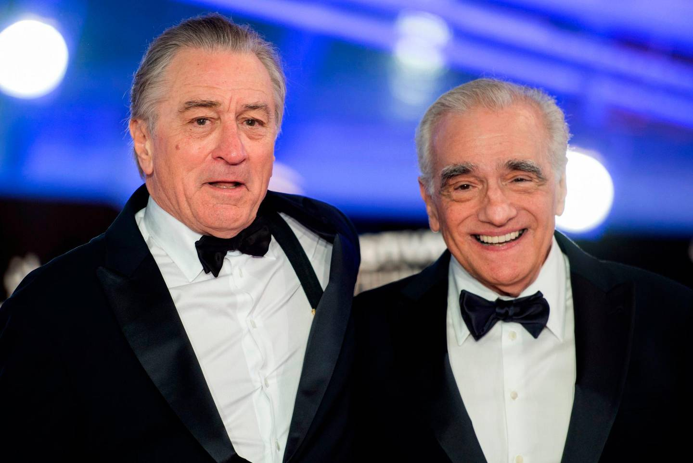 US actor Robert De Niro (L) and US film director Martin Scorsese (R), arrive at the Marrakech International Film festival, on December 1, 2018 in the city of Marrakesh / AFP / FADEL SENNA
