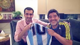 'My crazy life as Diego Maradona's translator in the UAE'