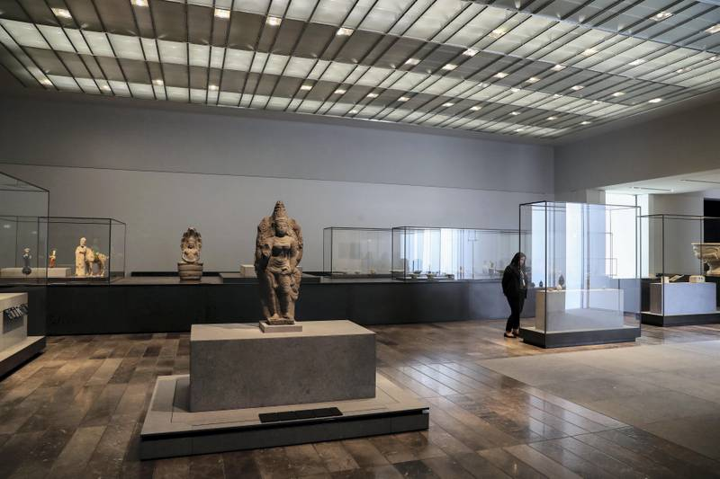 Abu Dhabi, United Arab Emirates - November 6th, 2017: Different artists on display at the Louvre. Louvre Media Day. Monday, November 6th, 2017 at Louvre, Abu Dhabi. Chris Whiteoak / The National
