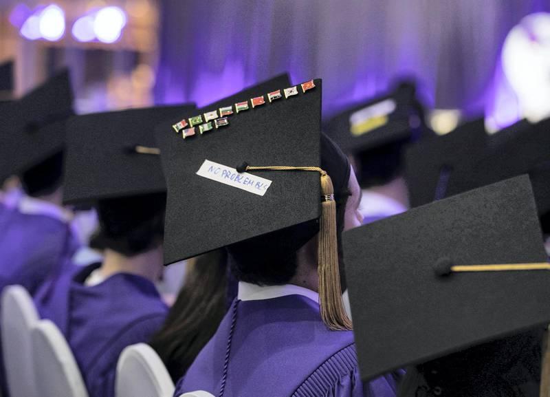 Abu Dhabi United Arab Emirates -Graduates of NYU Abu Dhabi.  Leslie Pableo for The National