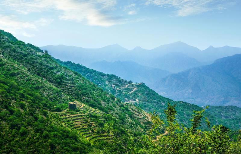 abha jizan fayfa mountain hanging village ; Shutterstock ID 1426645103; Purchase Order: -