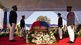 Foreign dignitaries take cover during protests at Haiti president's funeral