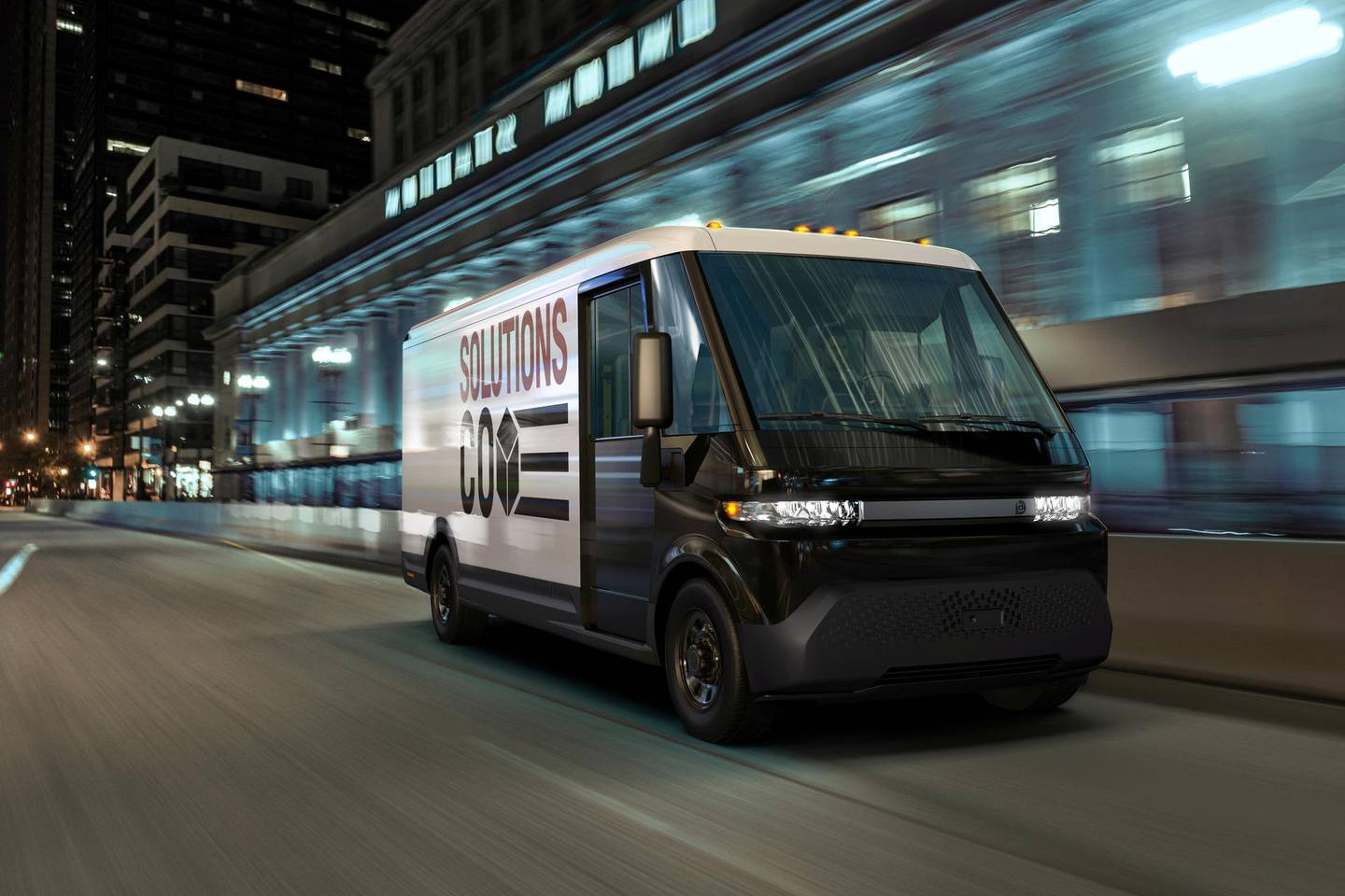 FILE PHOTO: GM's new EV600 electric van is seen in an undated photograph released in Detroit, Michigan, U.S, January 12, 2021.  GM/Handout via REUTERS NO RESALES. NO ARCHIVES. THIS IMAGE HAS BEEN SUPPLIED BY A THIRD PARTY./File Photo