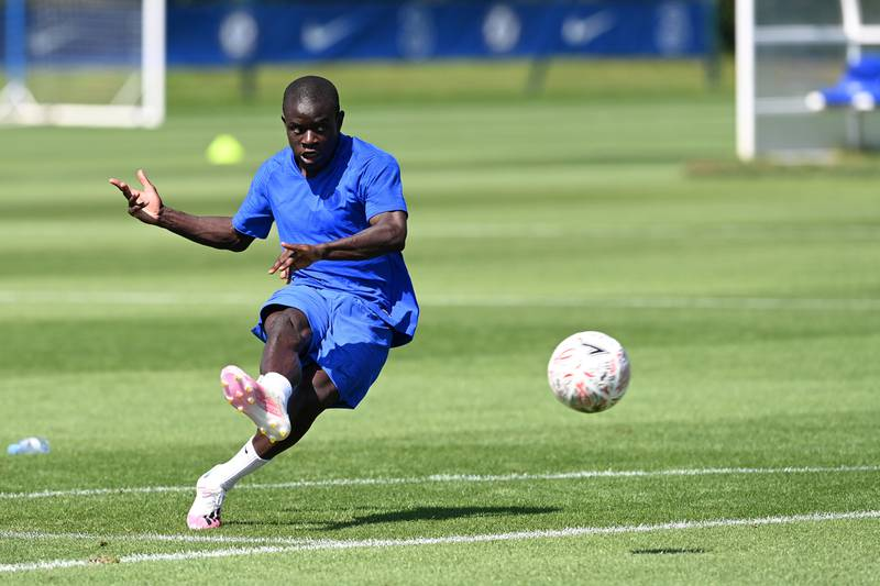 COBHAM, ENGLAND - JULY 31: NGolo Kante of Chelsea during a training session at Chelsea Training Ground on July 31, 2020 in Cobham, England. (Photo by Darren Walsh/Chelsea FC via Getty Images)