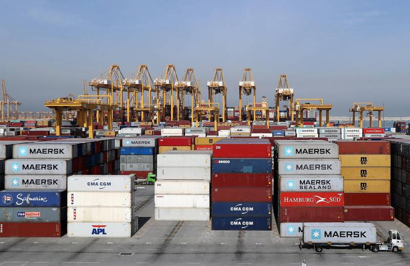 General view of a stock yard of DP World's fully automated Terminal 2 at Jebel Ali Port in Dubai, United Arab Emirates, December 27, 2018. Picture taken December 27, 2018. REUTERS/ Hamad I Mohammed