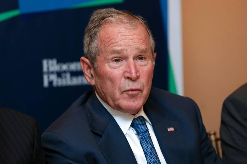 Former U.S. President George W. Bush pauses while speaking during the Bloomberg Global Business Forum in New York, U.S., on Wednesday, Sept. 25, 2019. The third annual Forum brings together important global leaders from the public and private sectors to address the threats from global warming to economic prosperity and examine the opportunities for solutions. Photographer: Bess Adler/Bloomberg