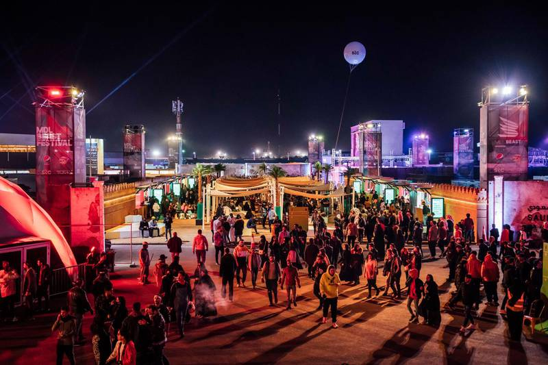 Atmosphere during MDL Beast, a three-day festival in Riyadh, Saudi Arabia, bringing together the best in music, performing arts and culture.