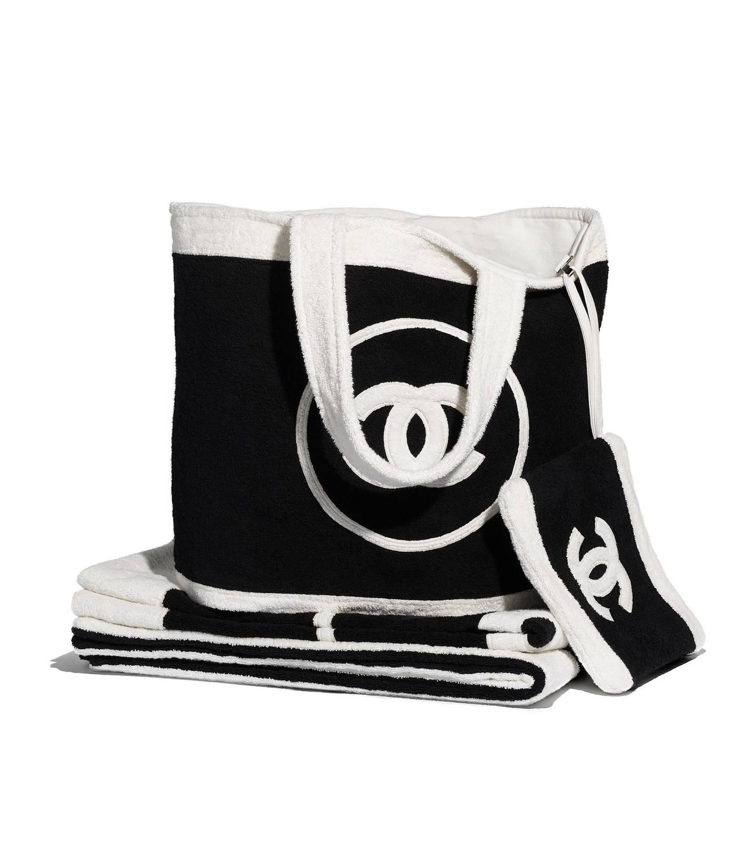 Black beachwear set, courtesy Chanel