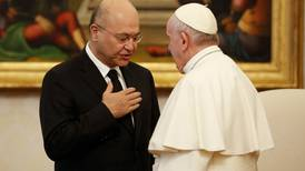 Vatican urges visiting Iraqi president to protect Christians