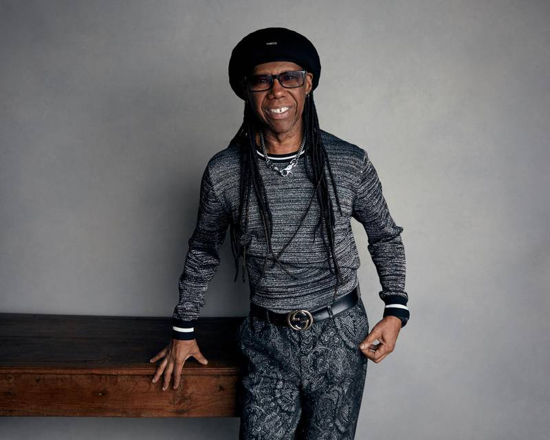 """FILE - In a  Jan. 20, 2018 file photo, Nile Rodgers poses for a portrait to promote the film """"Studio 54"""" at the Music Lodge during the Sundance Film Festival in Park City, Utah. Board members on Monday, July 2, 2018 unanimously elected Rodgers chairman of the Songwriters Hall of Fame. The 65-year-old guitarist will serve a three-year term, succeeding co-chairs Kenneth Gamble and Leon Huff. (Photo by Taylor Jewell/Invision/AP, File)"""