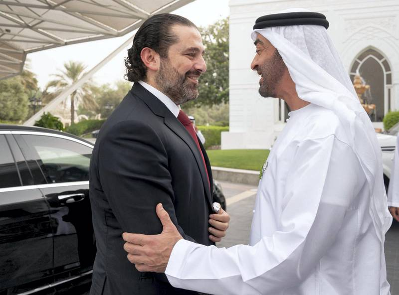 Mohamed bin Zayed receives Lebanon's Saad Hariri to discuss enhancing bilateral ties as well as regional and international issues and the latest developments. Mohammed bin Zayed twitter account