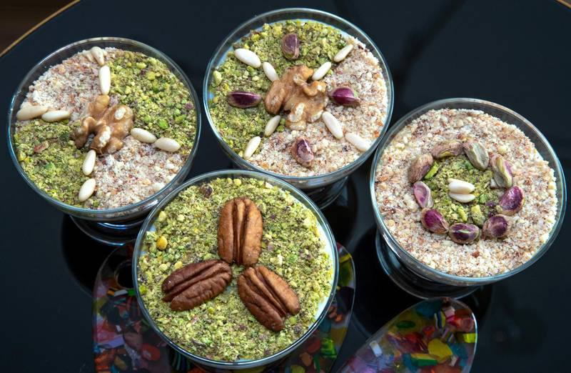 Abu Dhabi, United Arab Emirates, April 14, 2021.  Ramadan Recipes by Nejat Hadriche.  Tunisian style hazelnut porridge. Victor Besa/The NationalSection:  lfReporter:  Hanan Sayed Worrell
