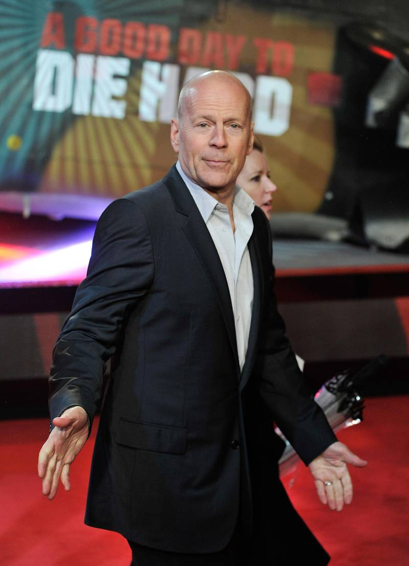 LONDON, ENGLAND - FEBRUARY 07:  Bruce Willis attends the UK Premiere of 'A Good Day To Die Hard' at Empire Leicester Square on February 7, 2013 in London, England.  (Photo by Gareth Cattermole/Getty Images)