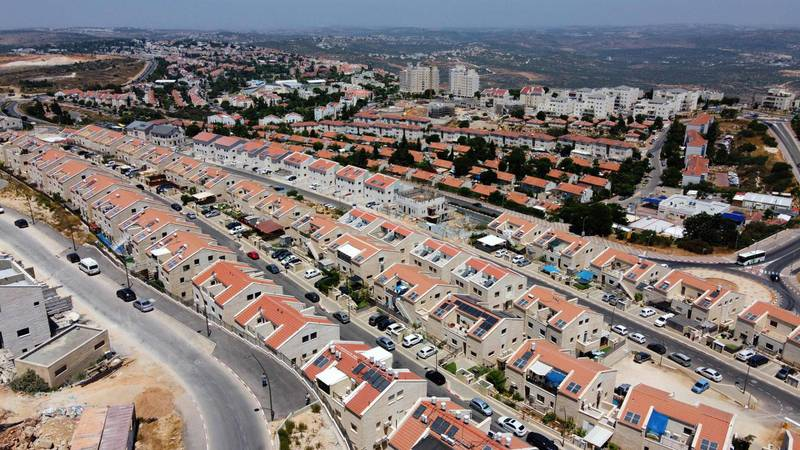 A view shows the Israeli settlement of Ariel in the occupied West Bank, on July 1, 2020.  The government of Israeli Prime Minister Benjamin Netanyahu has said it could begin the process to annex Jewish settlements in the West Bank as well as the strategic Jordan Valley from today. The plan -- endorsed by Washington -- would see the creation of a Palestinian state, but on reduced territory, and without Palestinians' core demand of a capital in east Jerusalem. / AFP / JACK GUEZ