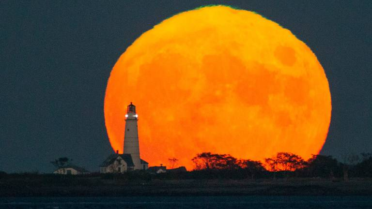 An image that illustrates this article The Harvest Moon glows around the world - in pictures