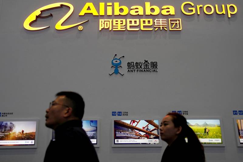 FILE PHOTO: A sign of Alibaba Group is seen during the fourth World Internet Conference in Wuzhen, Zhejiang province, China, December 3, 2017. REUTERS/Aly Song/File Photo                              GLOBAL BUSINESS WEEK AHEAD        SEARCH GLOBAL BUSINESS 29 JAN FOR ALL IMAGES