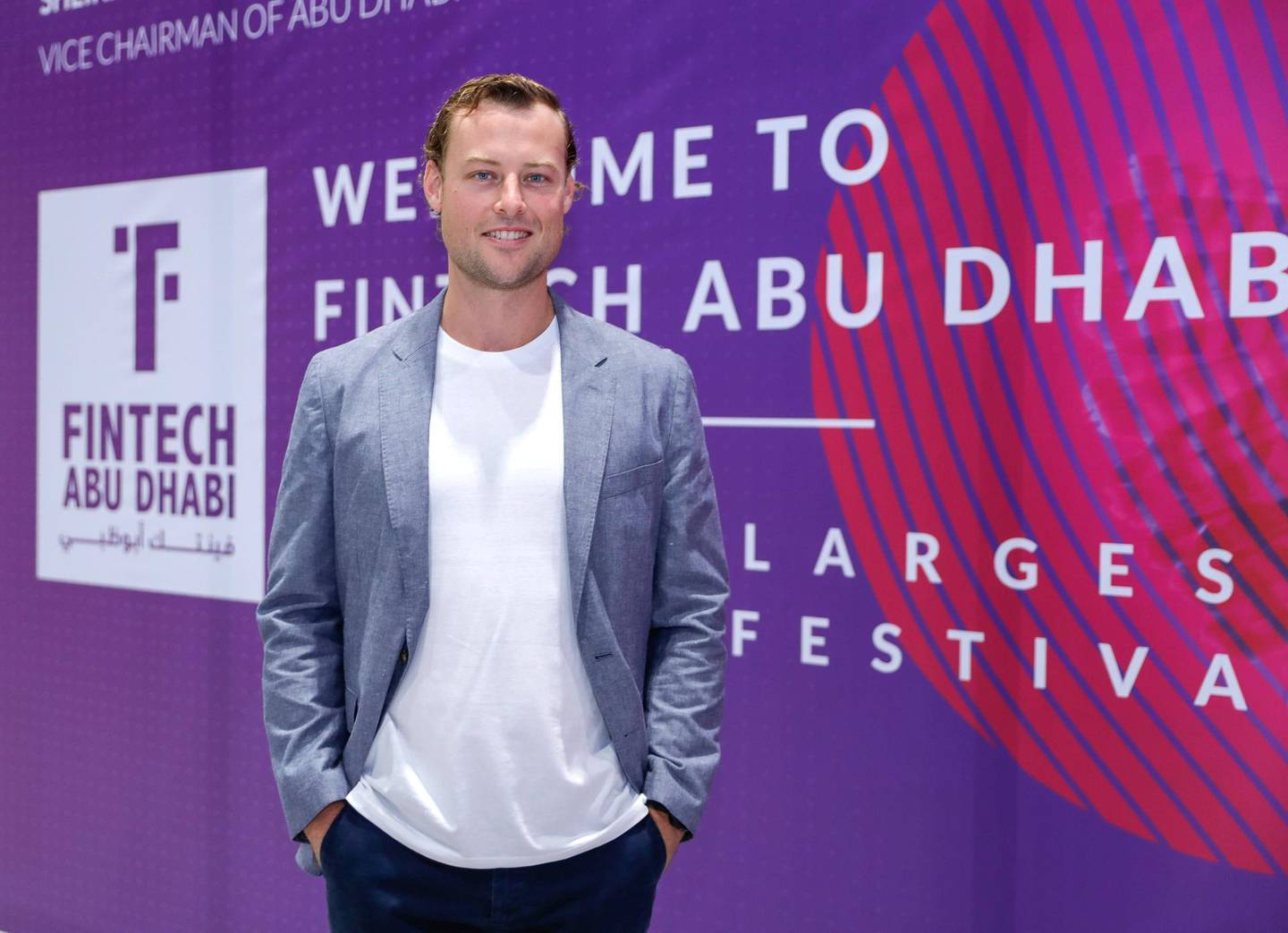 Abu Dhabi, United Arab Emirates, October 22, 2019.  Description:SECTION: BusinessSTORY BRIEF: Fintech Abu Dhabi  SUBJECT NAME: Fintech Abu Dhabi--  Tim Harley, TransferWise Head of Middle East.Victor Besa/The NationalSection:  BZReporter:  Nada El Sawy