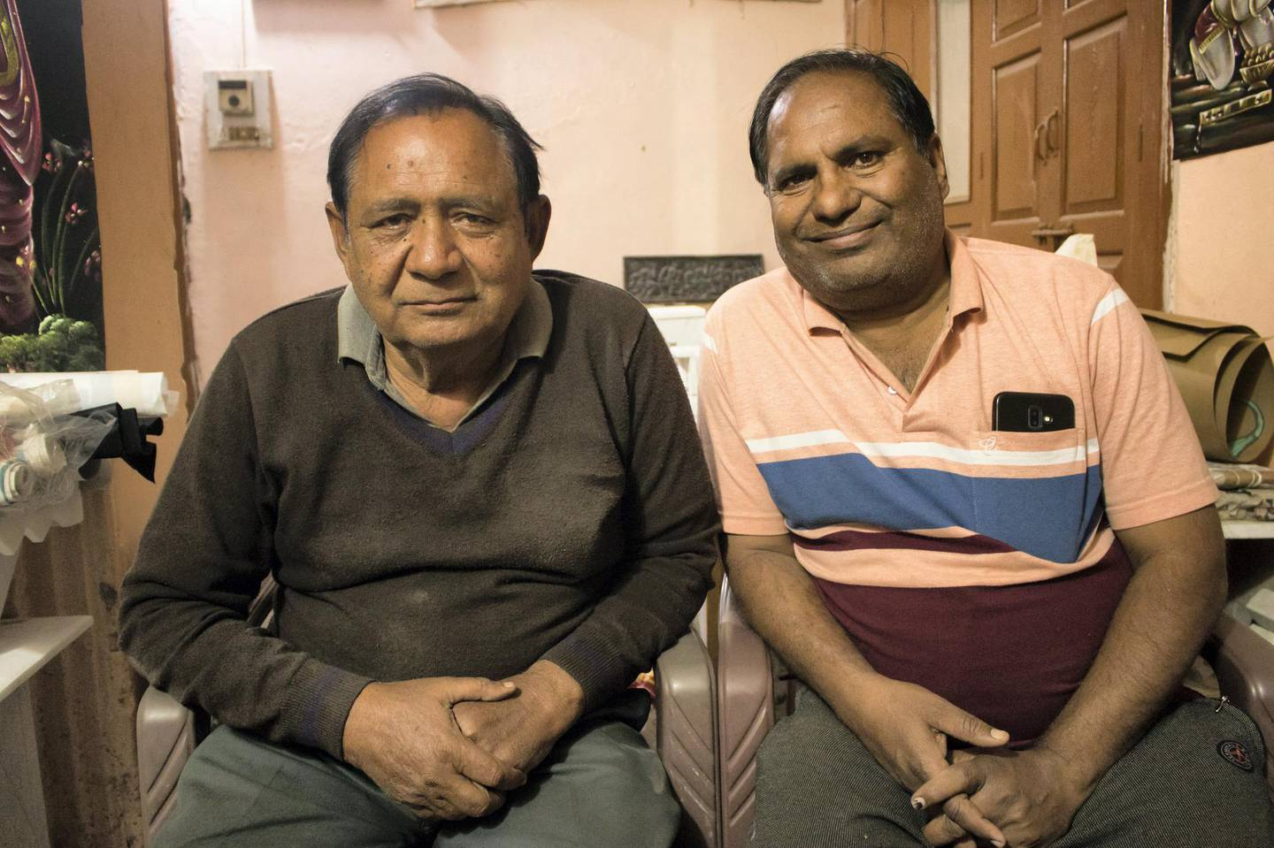 Anil Vyas (to the left) and Rajesh Vyas are both painters and are the last generation artists in their family to keep the Bani Thani art alive. Courtesy: Sanket Jain