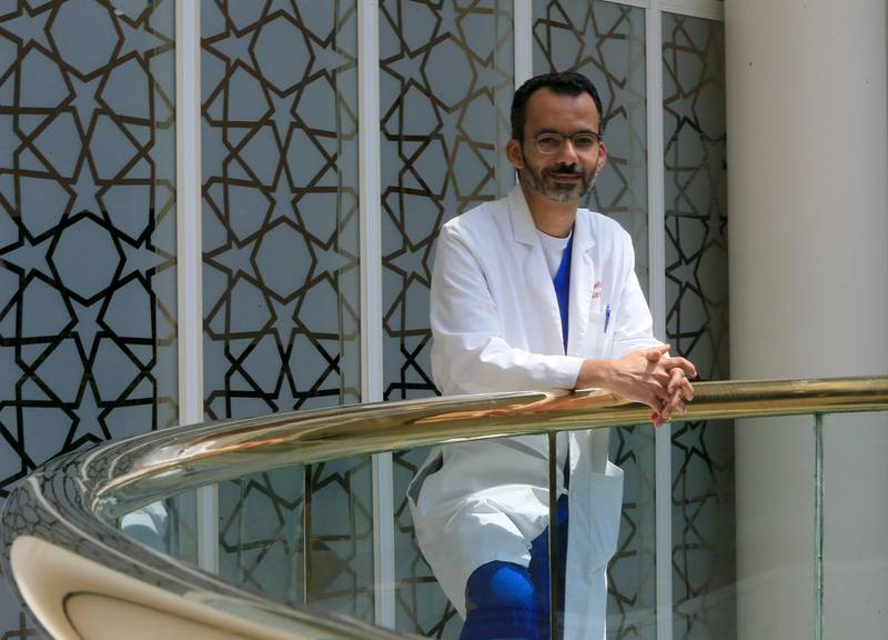 ABU DHABI - UNITED ARAB EMIRATES - 28SEPT2015 - Dr. Alawi Alsheikh-Ali, Consultant Cardiology and Electrophysiology and Chairman of Institute of Cardiac Sciences at Sheikh Khalifa Medical City in Abu Dhabi. Ravindranath K / The National (to go with Anam story for News) *** Local Caption ***  RK2809-PaediatricHeart02.jpg