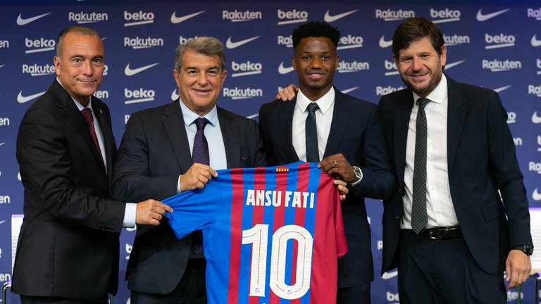 An image that illustrates this article Barca look to Fati and Camp Nou for Clasico inspiration