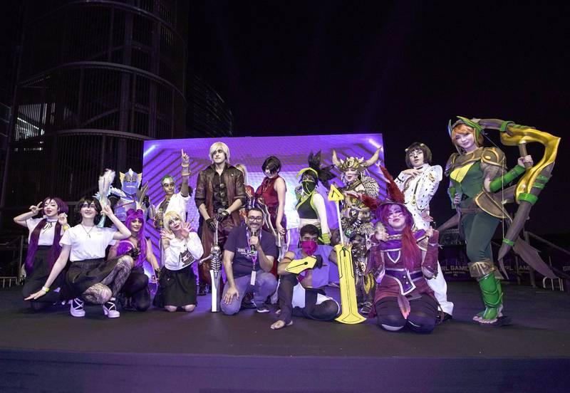 Dubai, United Arab Emirates, February 21, 2020.  Cosplay at Esports Festival World Finals at Meydan Grandstand, Dubai.  Victor Besa / The NationalSection:  WkReporter:  None