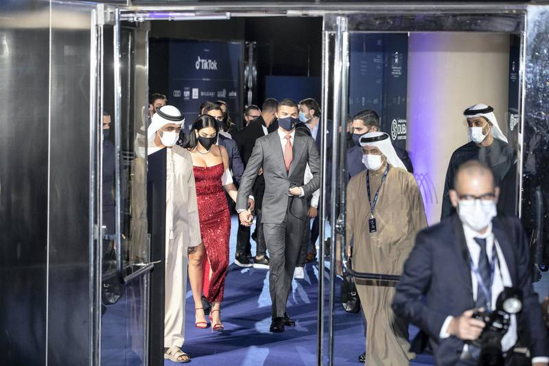 DUBAI UNITED ARAB EMIRATES. 24. DECEMBER 2020. Dubai International Sports Conference and Dubai Globe Soccer Awards held at the Armani hotel at the Burj Khalifa. (Photo: Antonie Robertson/The National) Journalist: John McAuley. Section: Sport.