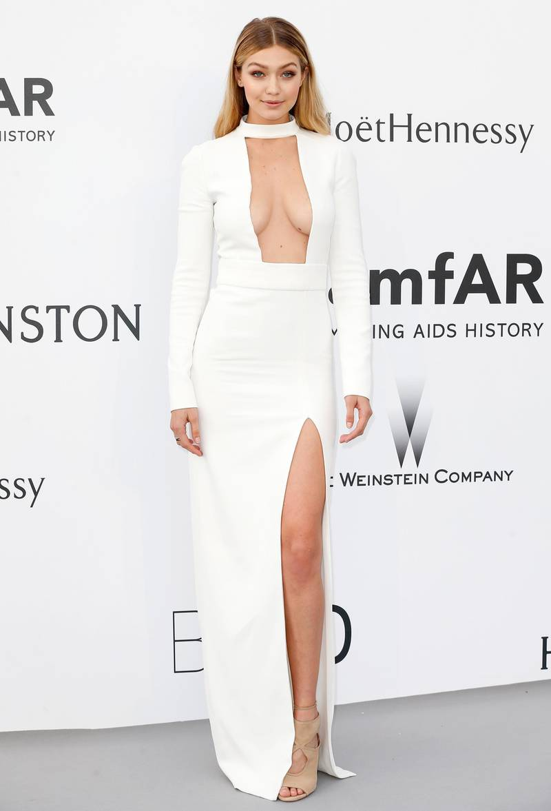 CAP D'ANTIBES, FRANCE - MAY 21:  Model Gigi Hadid attends amfAR's 22nd Cinema Against AIDS Gala, Presented By Bold Films And Harry Winston at Hotel du Cap-Eden-Roc on May 21, 2015 in Cap d'Antibes, France.  (Photo by Tristan Fewings/Getty Images)