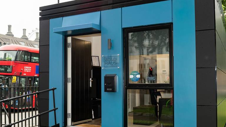 An image that illustrates this article Inside London's first pods for the homeless