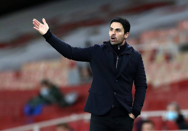 """File photo dated 16-12-2020 of Arsenal manager Mikel Arteta. PA Photo. Issue date: Friday December 18, 2020. Arsenal manager Mikel Arteta maintains everyone at the club knew there would be no """"quick fix"""" as he looks to get their campaign back on track. See PA story SOCCER Arsenal. Photo credit should read Peter Cziborra/PA Wire."""