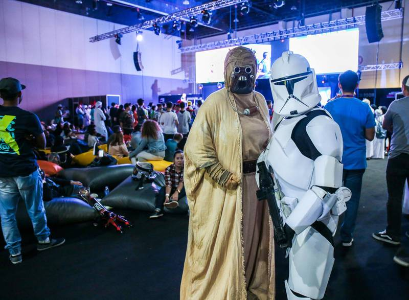 November 24, 2017. Star Wars fans at the Games Con Middle East at ADNEC.Victor Besa for The NationalACRequested by: Clare Dight