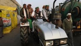 Indian farmers prepare to drive tractors into New Delhi on Republic Day