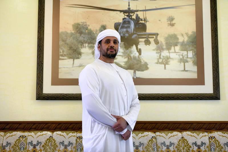 Abu Dhabi, United Arab Emirates - Mohamed Buti Al Mazrouei, 47, at his home in Al Ain. Khushnum Bhandari for The National