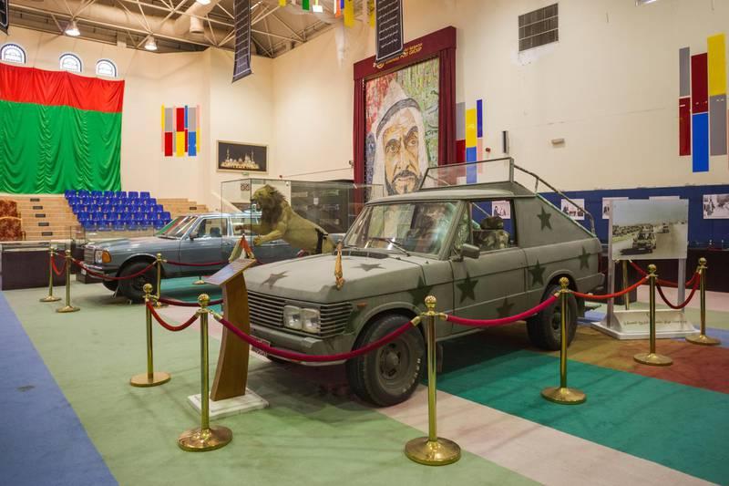 R3KAPC UAE, Abu Dhabi. Sheikh Zayed Research Center, royal car collection, ceremonial Range Rover