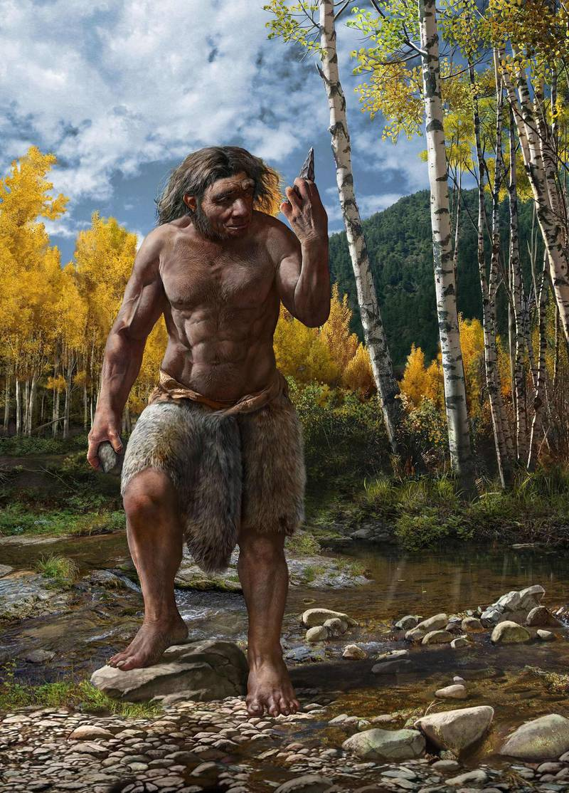 """A handout photo obtained on June 25, 2021 from EurekAlert! shows a reconstruction of Dragon Man in his habitat. Scientists announced Friday that a skull discovered in Northeast China represents a newly discovered human species they have named Homo longi or """"Dragon Man,"""" and the lineage may replace Neanderthals as our closest relatives. - RESTRICTED TO EDITORIAL USE - MANDATORY CREDIT """"AFP PHOTO /BYLINE """" - NO MARKETING - NO ADVERTISING CAMPAIGNS - DISTRIBUTED AS A SERVICE TO CLIENTS  / AFP / EUREKALERT! / CHUANG Zhao / RESTRICTED TO EDITORIAL USE - MANDATORY CREDIT """"AFP PHOTO /BYLINE """" - NO MARKETING - NO ADVERTISING CAMPAIGNS - DISTRIBUTED AS A SERVICE TO CLIENTS"""