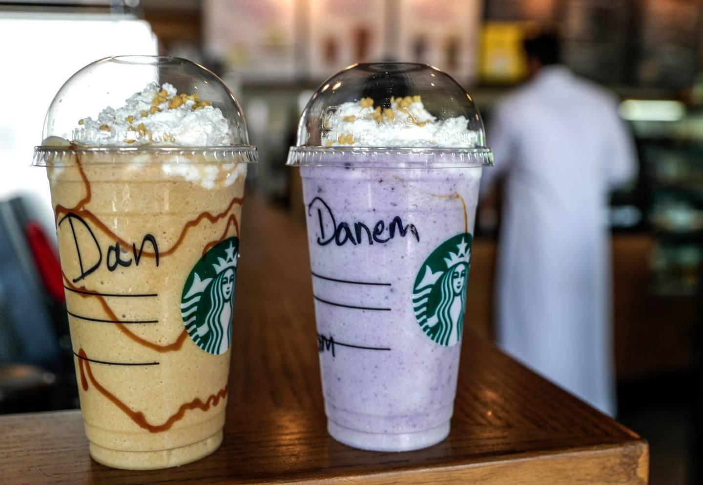 Abu Dhabi, United Arab Emirates, August 6, 2019.  Dan Sanderson drinking a frappucino at Starbucks near to the office .Victor Besa/The NationalSection:  NAReporter:  Dan Sanderson