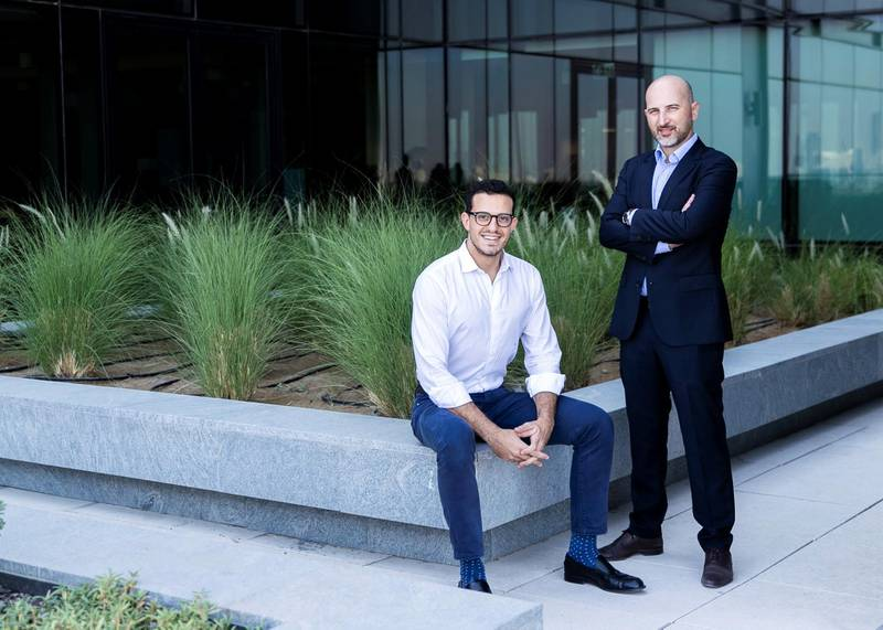 DUBAI, UNITED ARAB EMIRATES. 22 OCTOBER 2020. Tariq Said, left, and Daniel Domingues, Sirius Energy co-founders and executive directors.(Photo: Reem Mohammed/The National)Reporter:Section: