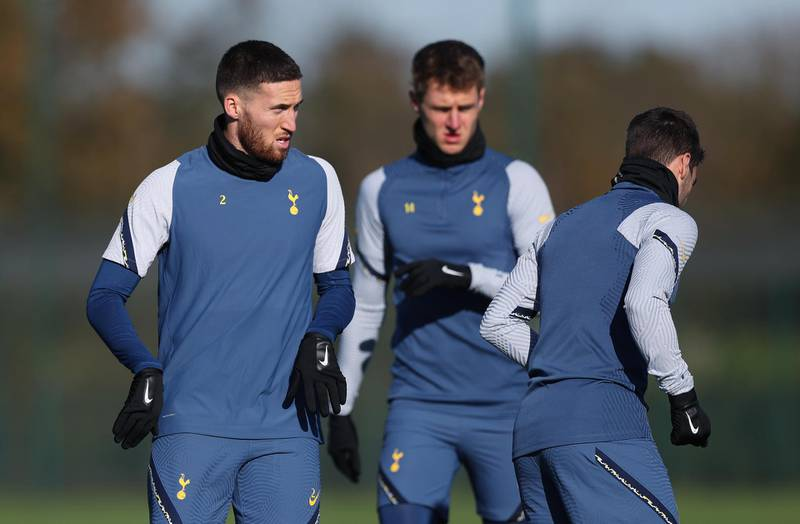 ENFIELD, ENGLAND - NOVEMBER 04: Matt Doherty of Tottenham Hotspur during the Tottenham Hotspur training session ahead of the UEFA Europa League Group J stage match between Tottenham Hotspur and PFC Ludogorets Razgrad at Tottenham Hotspur Training Centre on November 04, 2020 in Enfield, England. (Photo by Tottenham Hotspur FC/Tottenham Hotspur FC via Getty Images)