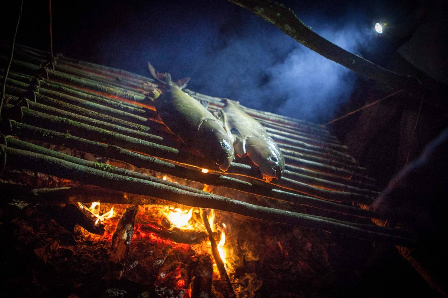 Amazonian-style dinner. Photo by Malte Clavin