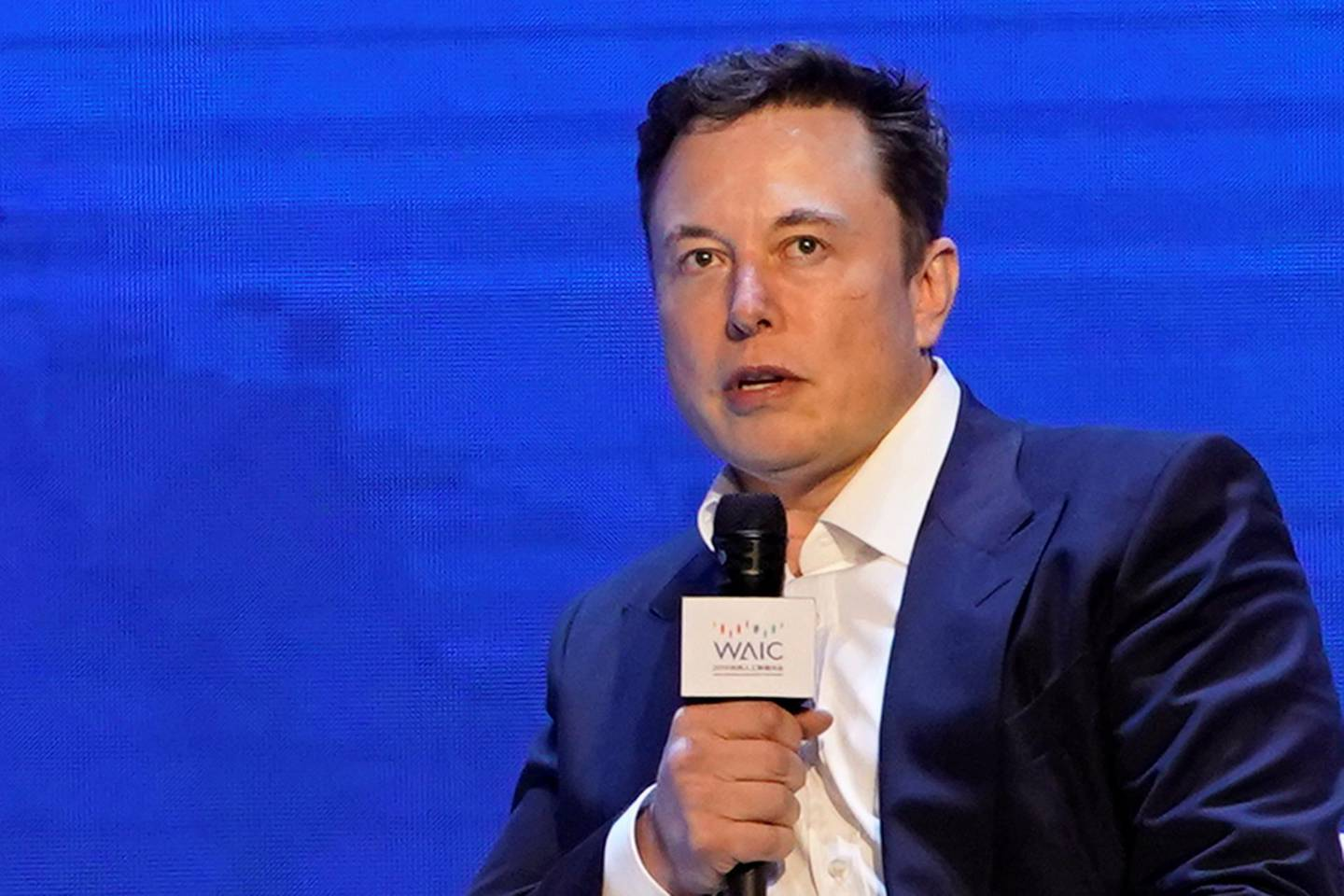 Tesla Inc CEO Elon Musk attends the World Artificial Intelligence Conference (WAIC) in Shanghai, China August 29, 2019. REUTERS/Aly Song