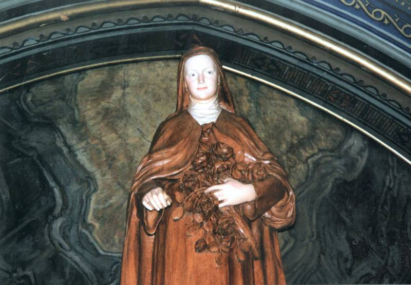 Sculpture representing Saint Theresa of the Baby Jesus (Alencon, 1873  Lisieux, 1897), French nun, Canonized in 1925, Basilica of Notre-Dame of Montreal. (Photo by Photo12/UIG/Getty Images)