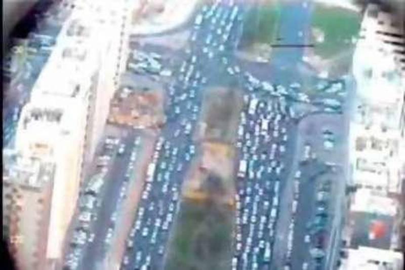 Grabs of traffic on Abu Dhabi island taken from Youtube.Courtesy of Abu Dhabi Police
