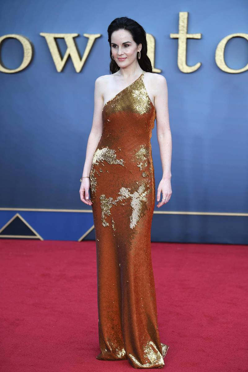 epa07830824 British actress/cast member Michelle Dockery attends the World Premiere of 'Downton Abbey' at Leicester Square in Lon?don, Britain, 09 September 2019. The movie, based on the hit television show, is released in UK cinema on 13 September 2019.  EPA-EFE/NEIL HALL
