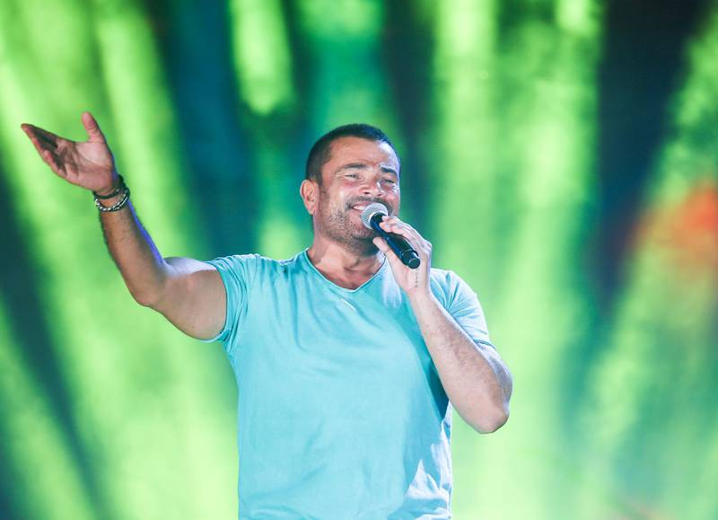 Mandatory Credit: Photo by Mohamed Omar/EPA/Shutterstock (7656305b) Egyptian Singer Amr Diab Performs During an Open-air Concert Held at the Village of Porto Sokhna in Ain Sukhna Egypt 07 November 2011 the Concert was Held to Mark Eid Al-adha the Muslim Feast of the Sacrifice Egypt Ain Sukhna Egypt Music - Nov 2011