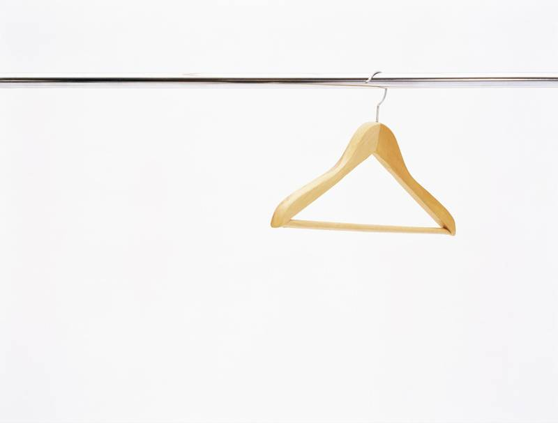Coat hanger on a rail. Getty Images