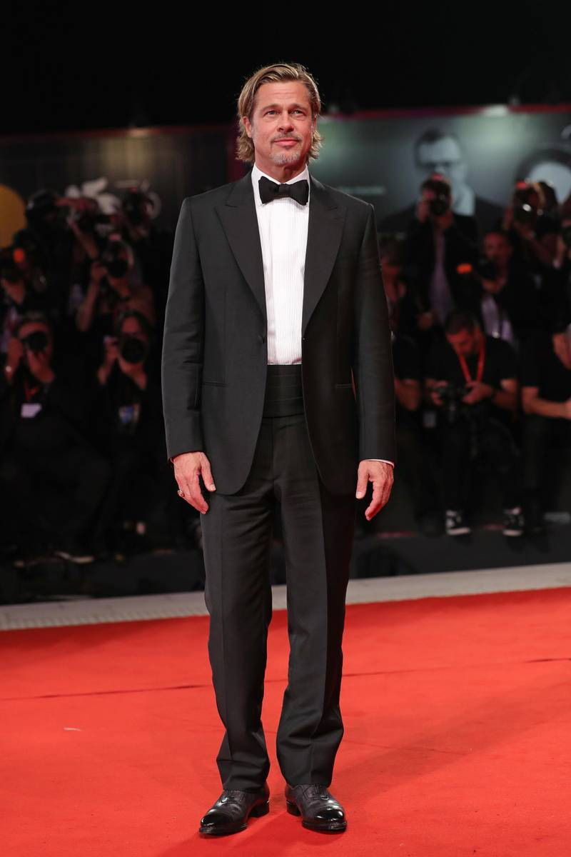 """VENICE, ITALY - AUGUST 29: Brad Pitt walks the red carpet ahead of the """"Ad Astra"""" screening during the 76th Venice Film Festival at Sala Grande on August 29, 2019 in Venice, Italy. (Photo by Vittorio Zunino Celotto/Getty Images)"""