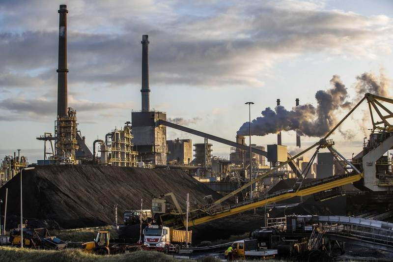 epa08007715 A general view of the Tata Steel in IJmuiden, The Netherlands, 19 November 2019. The Tata steel group expects to cut up to 3,000 jobs in Europe.  EPA/JEROEN JUMELET