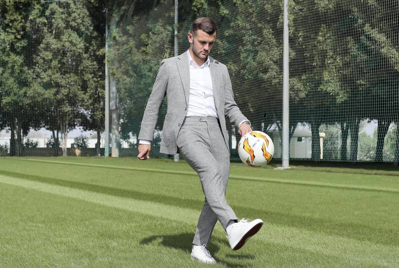 DUBAI , UNITED ARAB EMIRATES , November 25 – 2020 :- Jack Wilshere, an English Professional Footballer after the interview at the NAS sports complex  in Dubai. ( Pawan Singh / The National ) For Sports/Online/Instagram. Story by Paul Radley